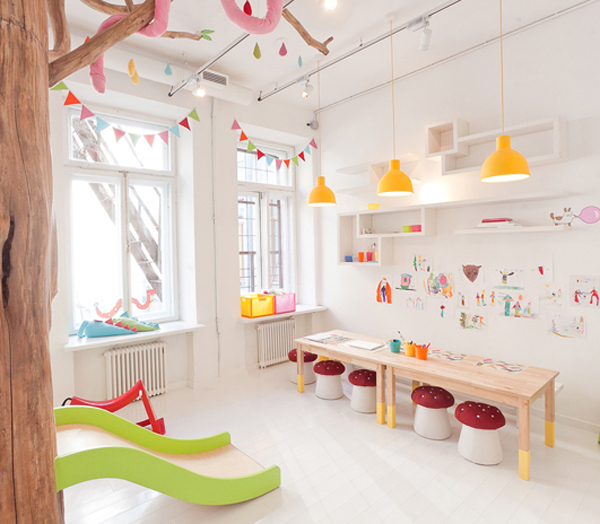 The ultimate kids playroom, so bright and cheery!