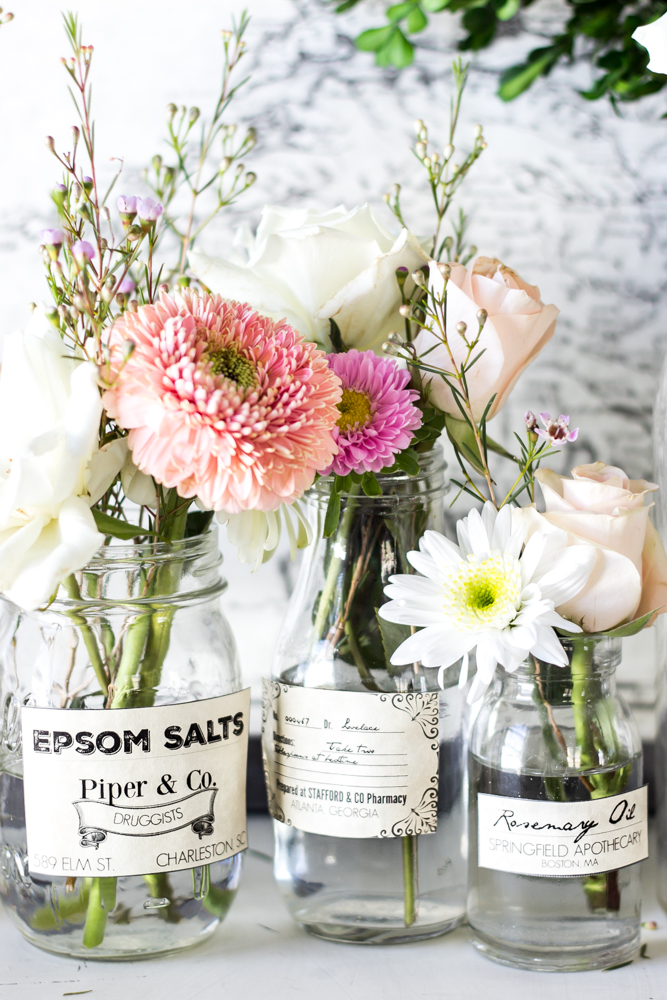 These apothecary free printables are the perfect farmhouse touch to add to any shelf in your home.