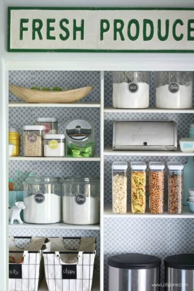 Transform your space in under an hour for less than $20, love this quick pantry makeover!