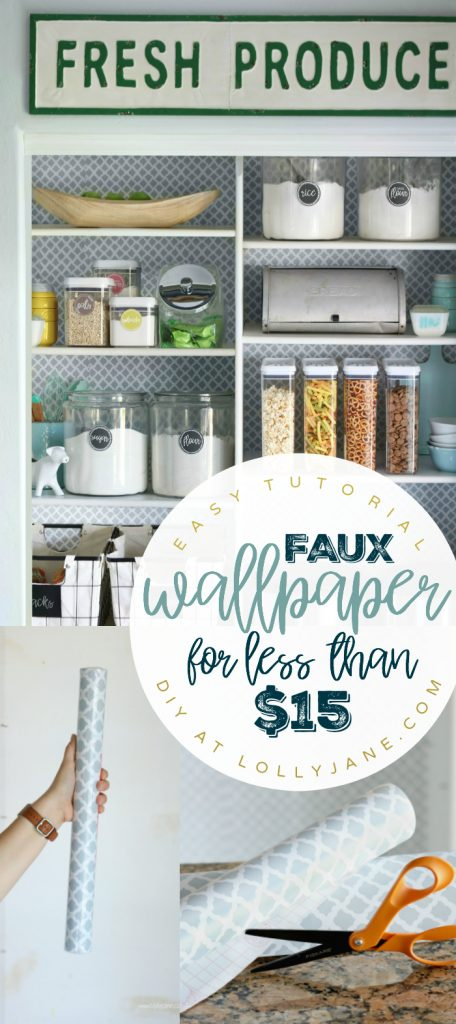 Easy faux wallpaper tutorial, transform a small space for less than $15!