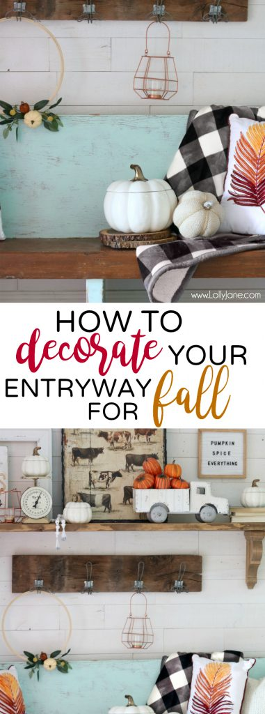 How To EASILY Decorate Your Entryway Beautifully for FALL!