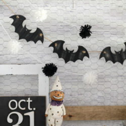 easy bat garland diy