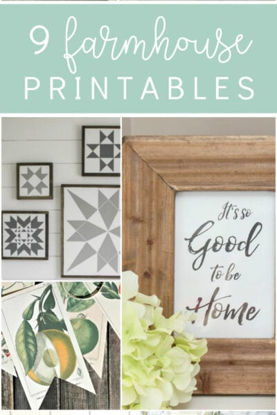 9 darling farmhouse printables. Love this variety of farmhouse printables to cozy up your home!