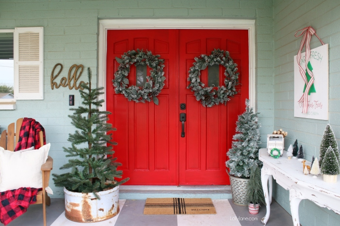 front porch christmas decor - Christmas Porch Decor