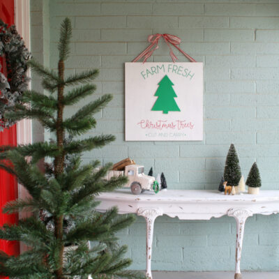 diy farm fresh Christmas trees sign