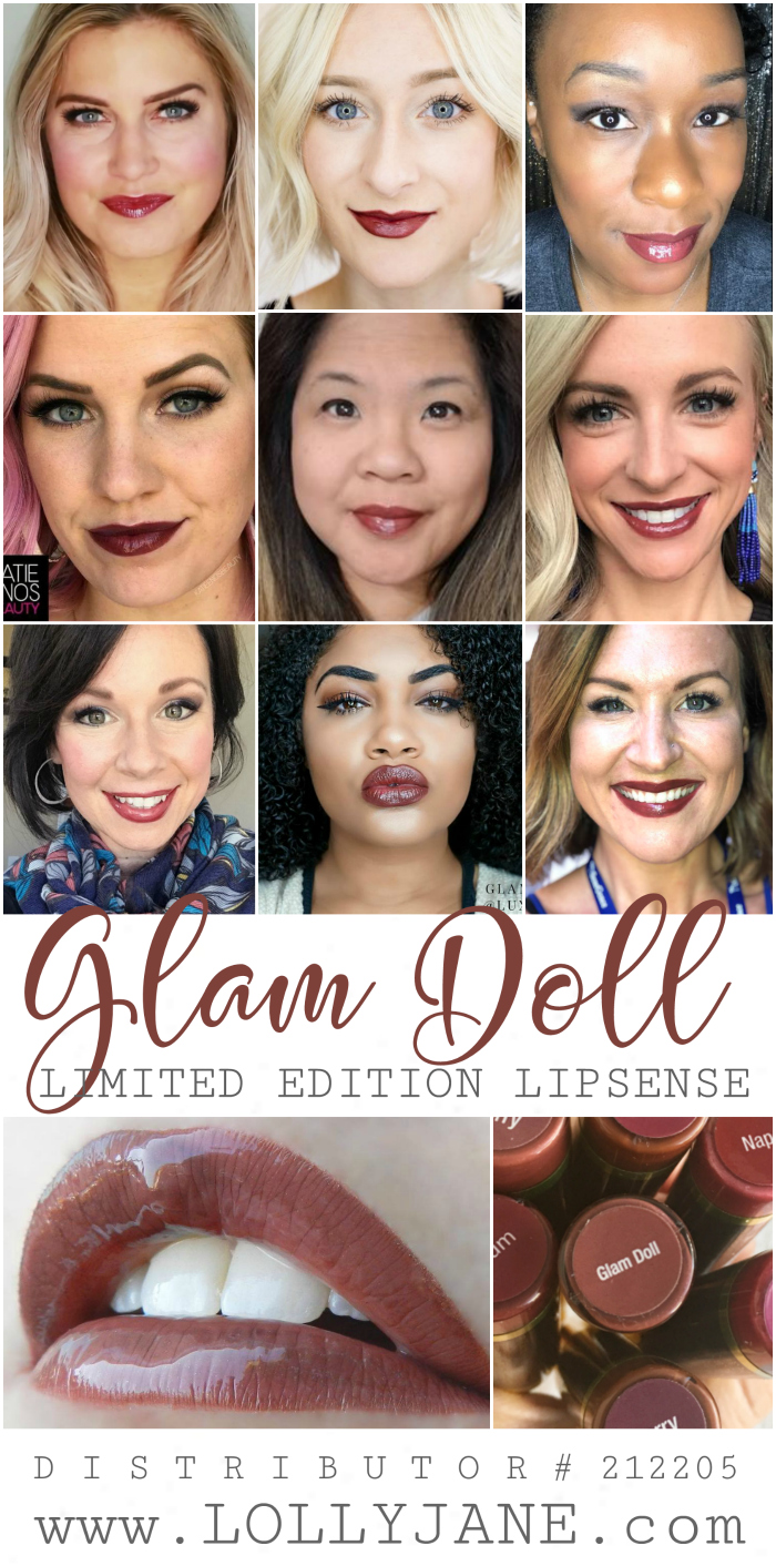 Loving this new Senegence limited edition LipSense color, Glam Doll! Such a pretty fall lipstick color!! Top fall lipcolor choice, Glam Doll LipSense!