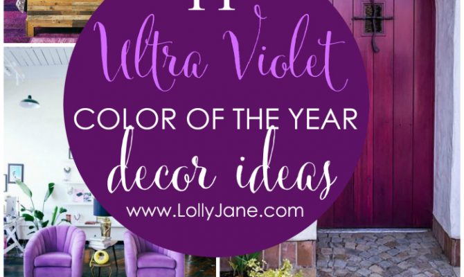 Color of the year: Ultra Violet decor ideas!! 11 fun ways to use the 2018 color of the year Ultra Violet in your home decor!