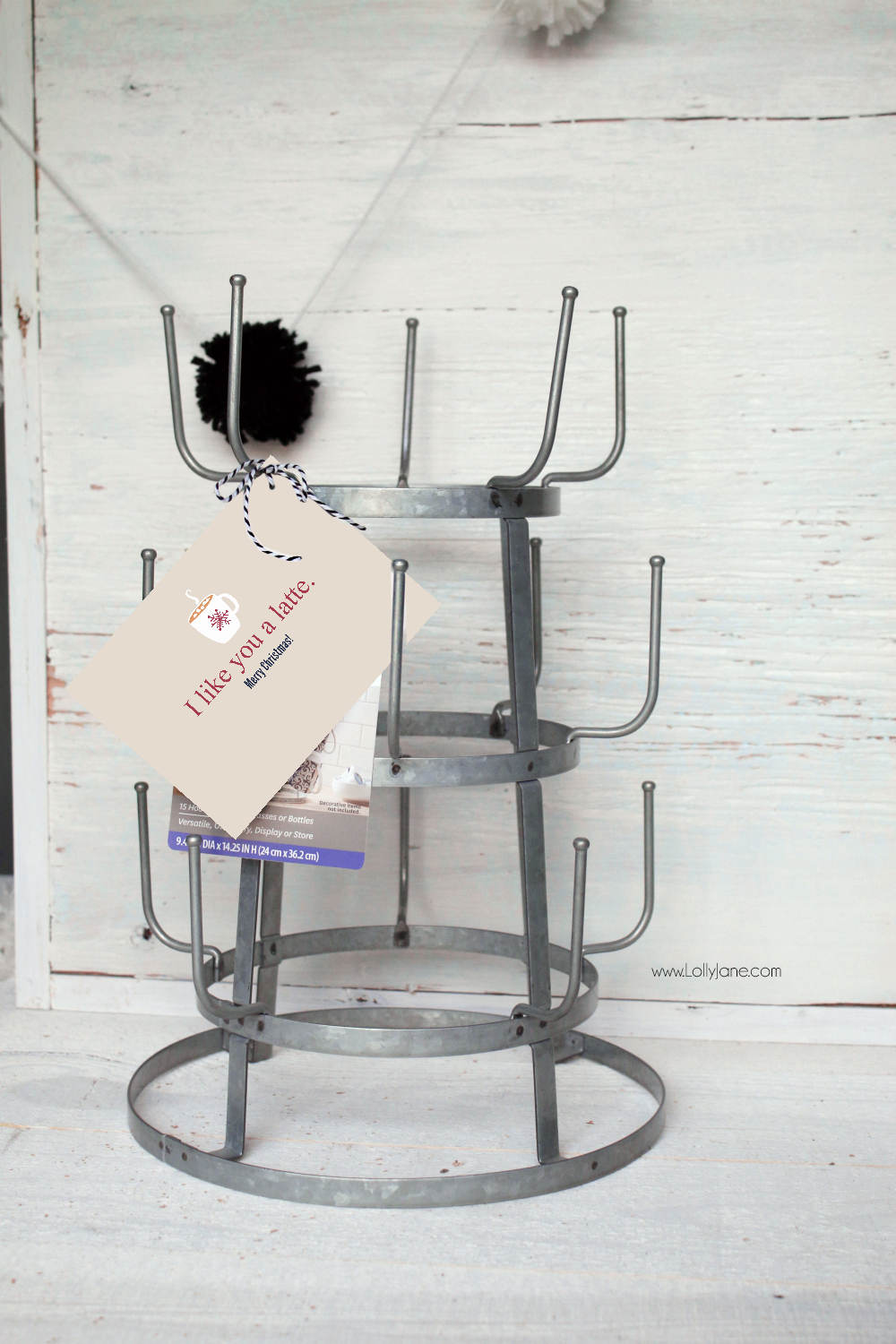 Pretty galvanized mug rack, and less than $20! Great roundup of 4 other Christmas gift ideas that look expensive but from Walmart!