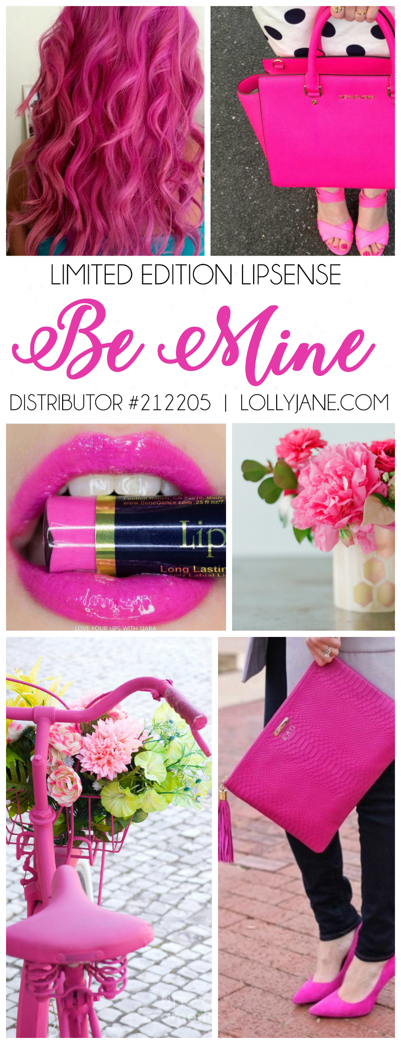 Limited Edition Be Mine LipSense!! This is a fun lipcolor! Love this hot pink waterproof lipcolor that lasts 4-18 hours!