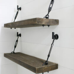 diy turnbuckle shelf