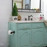 vintage dresser to bathroom vanity
