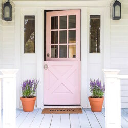 12 Painted Pink Door Ideas, so cute!