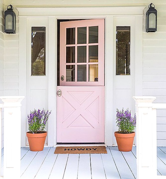 12 Painted Pink Door Ideas So Cute