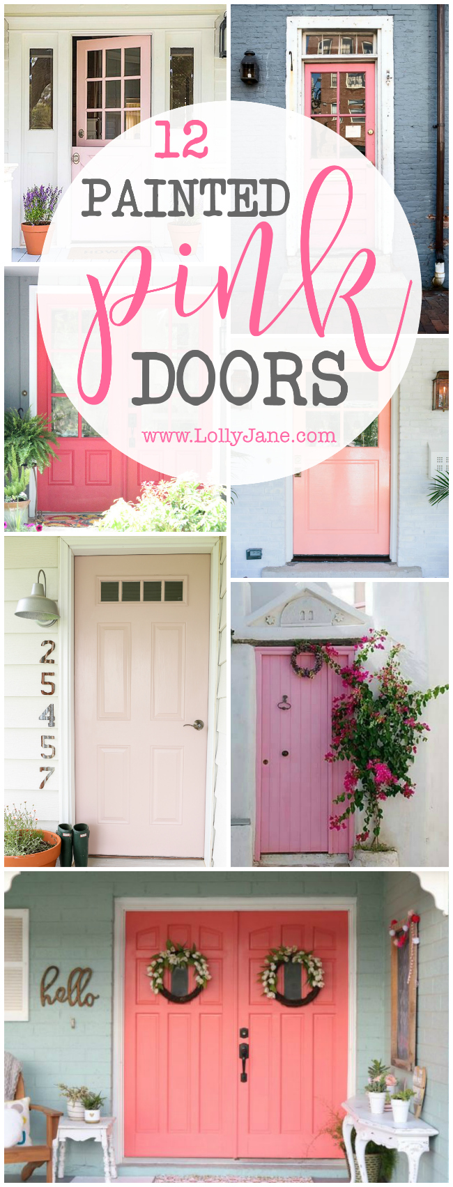 Ahh! Darling pink painted door ideas, yowzas! So cute! Adore all these painted pink doors for a colorful front porch!