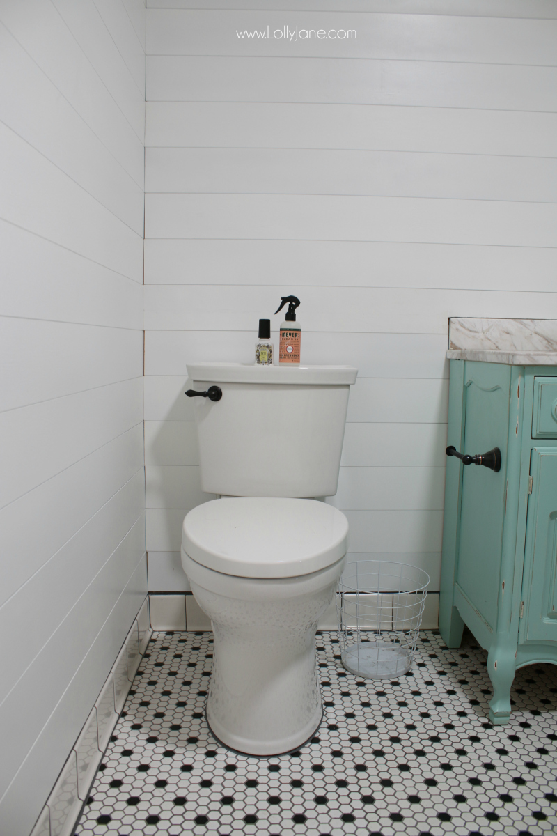 Peel Stick Shiplap Bathroom Wall Treatment Lolly Jane