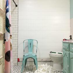 Peel & Stick Shiplap Bathroom Wall Treatment