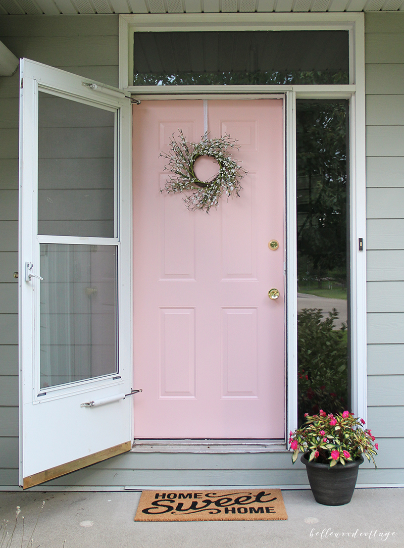 This Pretty In Pink Front Door Is Ga Gorgeous Bella Porch