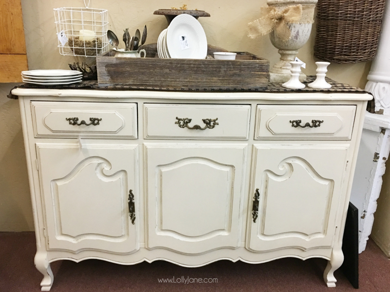 Vintage dresser to bathroom vanity tutorial. Turn an old dresser into a custom bathroom vanity with a few quick steps!