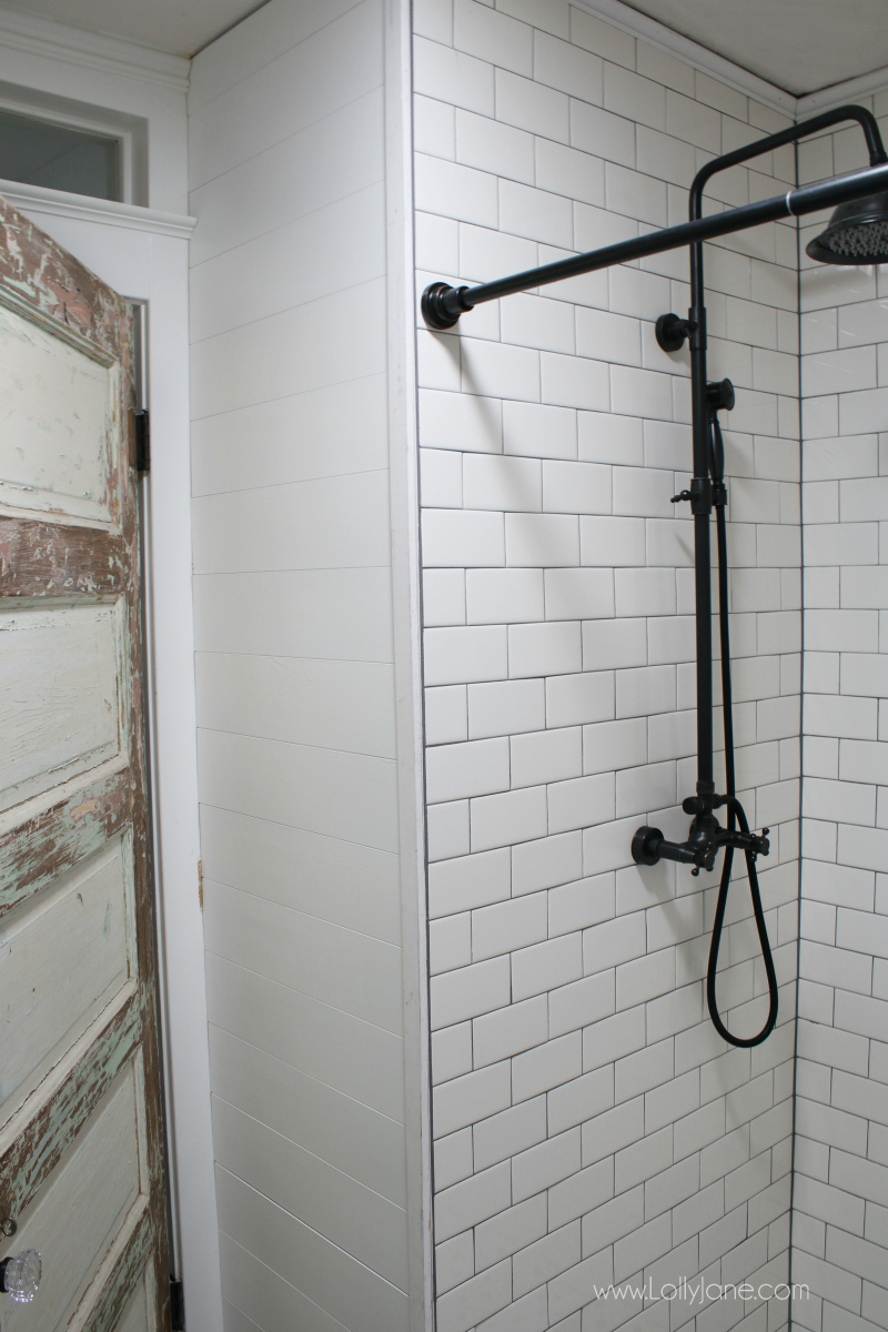 Peel & Stick Shiplap Bathroom Wall Treatment - Lolly Jane