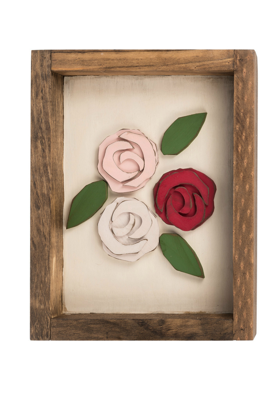 Love these diy wood posies in a box, such cute Valentine's Day decor!
