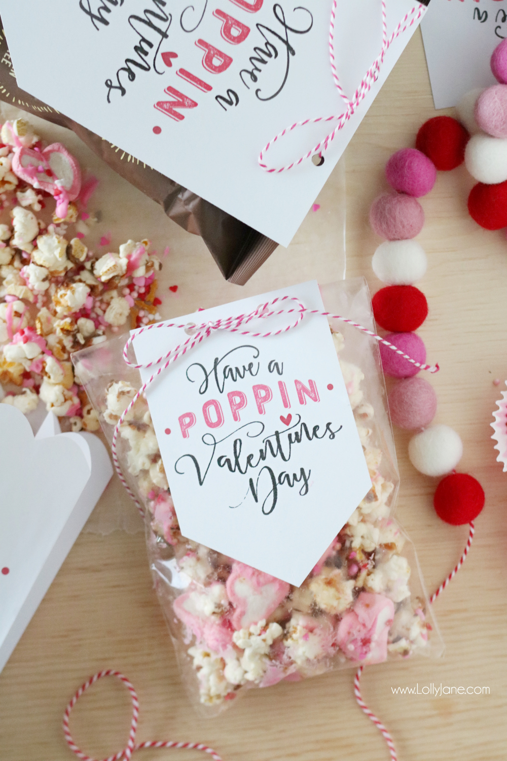 graphic regarding Popcorn Valentine Printable named no cost printable \