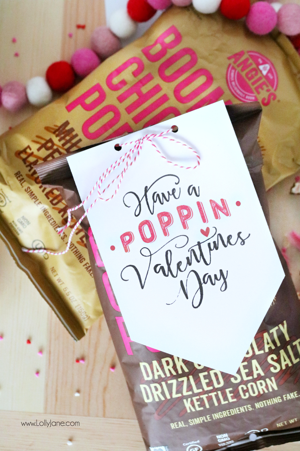 image about Popcorn Valentine Printable named no cost printable \