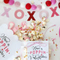 "Yummy EASY Valentine's Popcorn Mix! Pair with our free popcorn tags ""Have a Poppin' Valentine's Day!"""