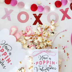 "free ""Have a Poppin' Valentines Day"" tag + recipe"