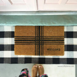 Looooove this buffalo check rug! It's the perfect indoor/outdoor rug! Great quality and matches any home decor style!