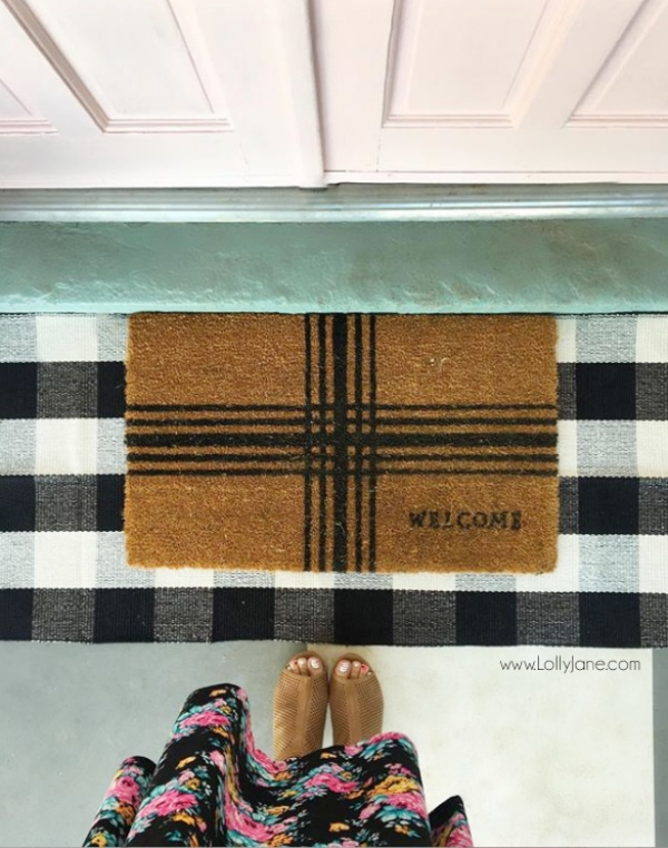 Looooove This Buffalo Check Rug It S The Perfect Indoor Outdoor Great Quality