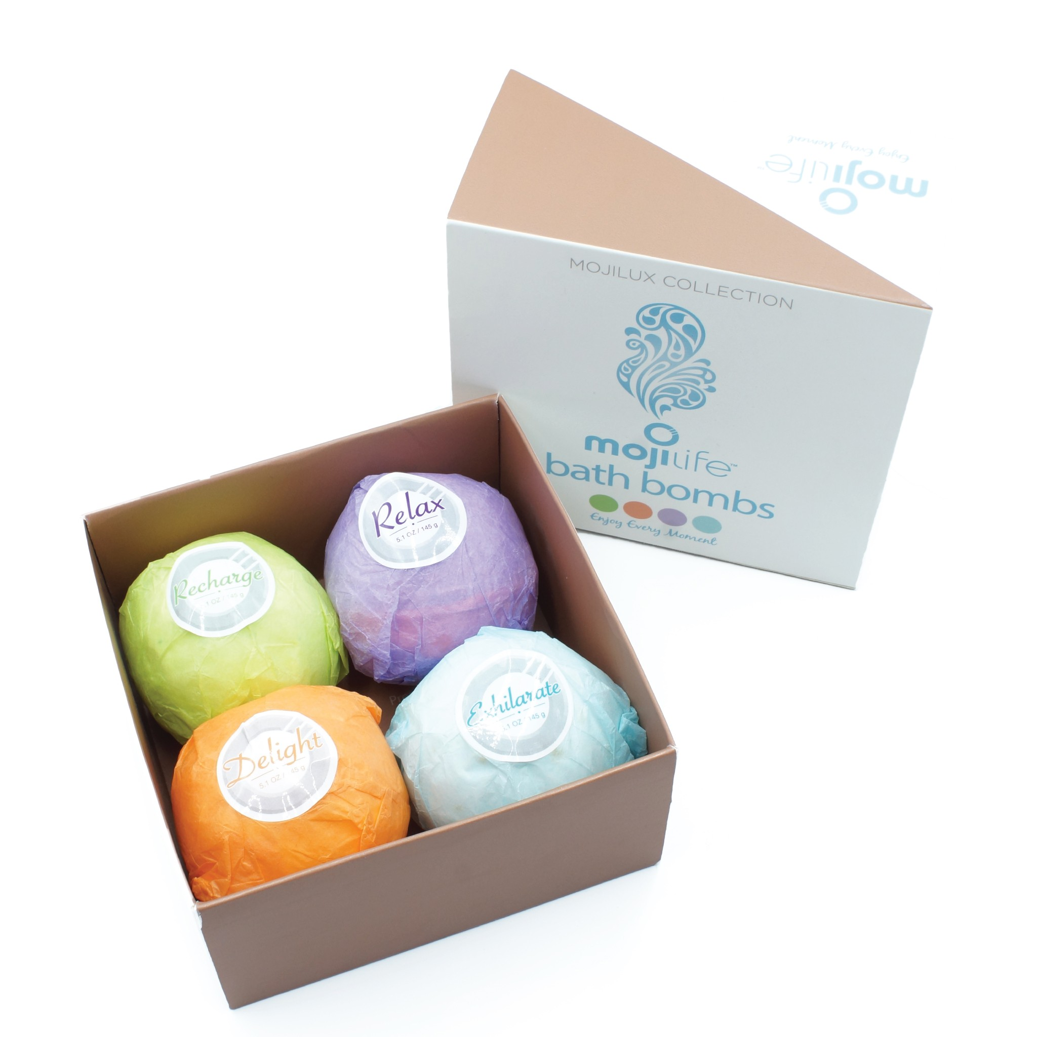Loving these MojiLife bath bombs, they're the ultimate aromatherapy experience! These vegan and organic bath bombs won't change your water color!
