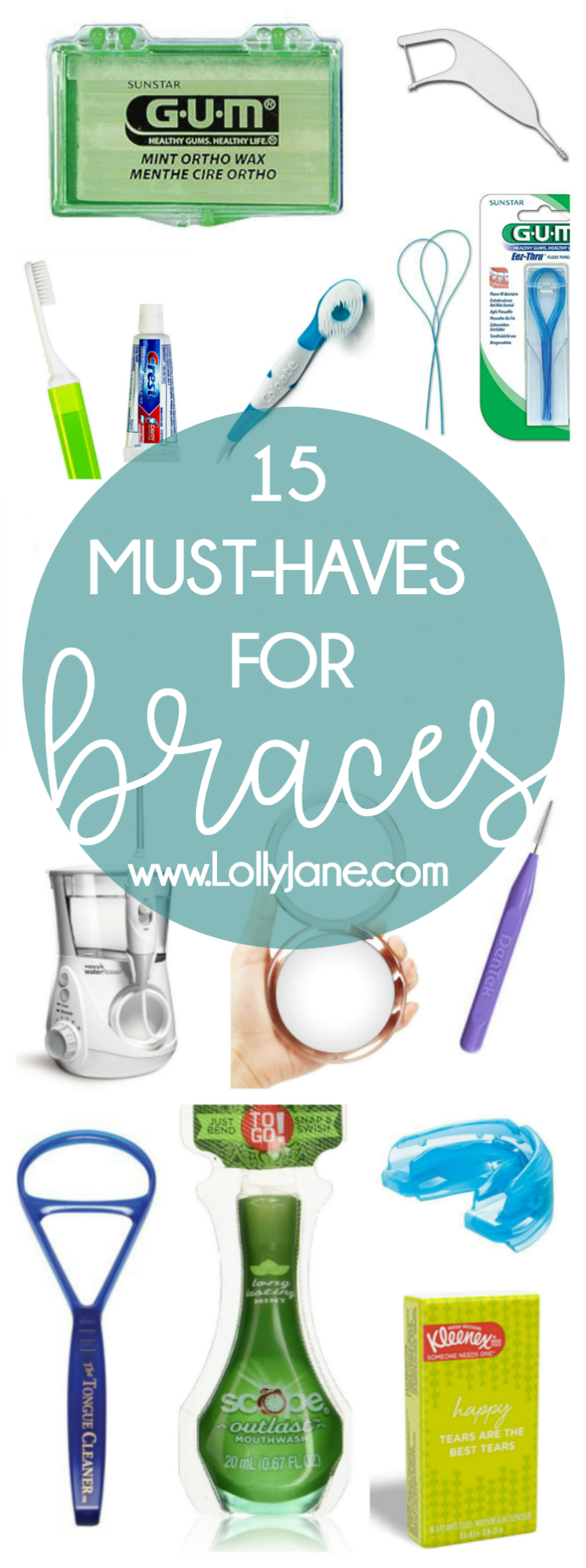 15 must-haves for braces!! Check out our essentials for new braces users! We have adult braces and love this collection of must-have items for braces, it's the best braces survival guide out there!