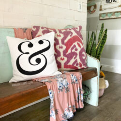 Ampersand pillow home decor. Love this affordable pillow covers, several styles to choose from. Super affordable pillows for easy home decor!