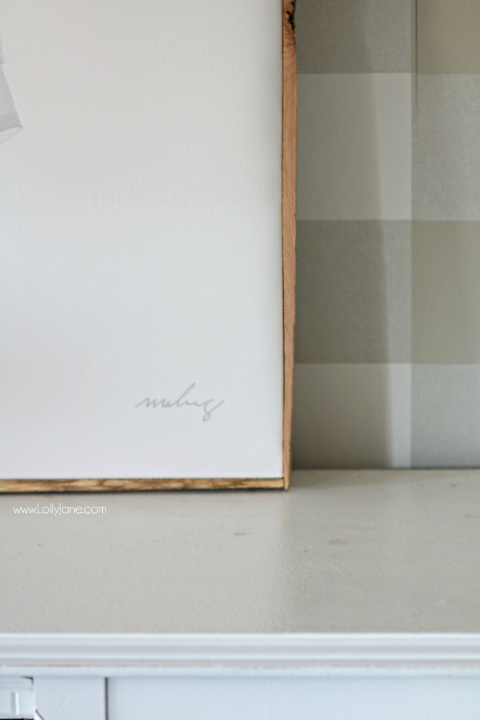 DIY Framed Canvas - Frame An Oversized Canvas In Less Than 20 Min.