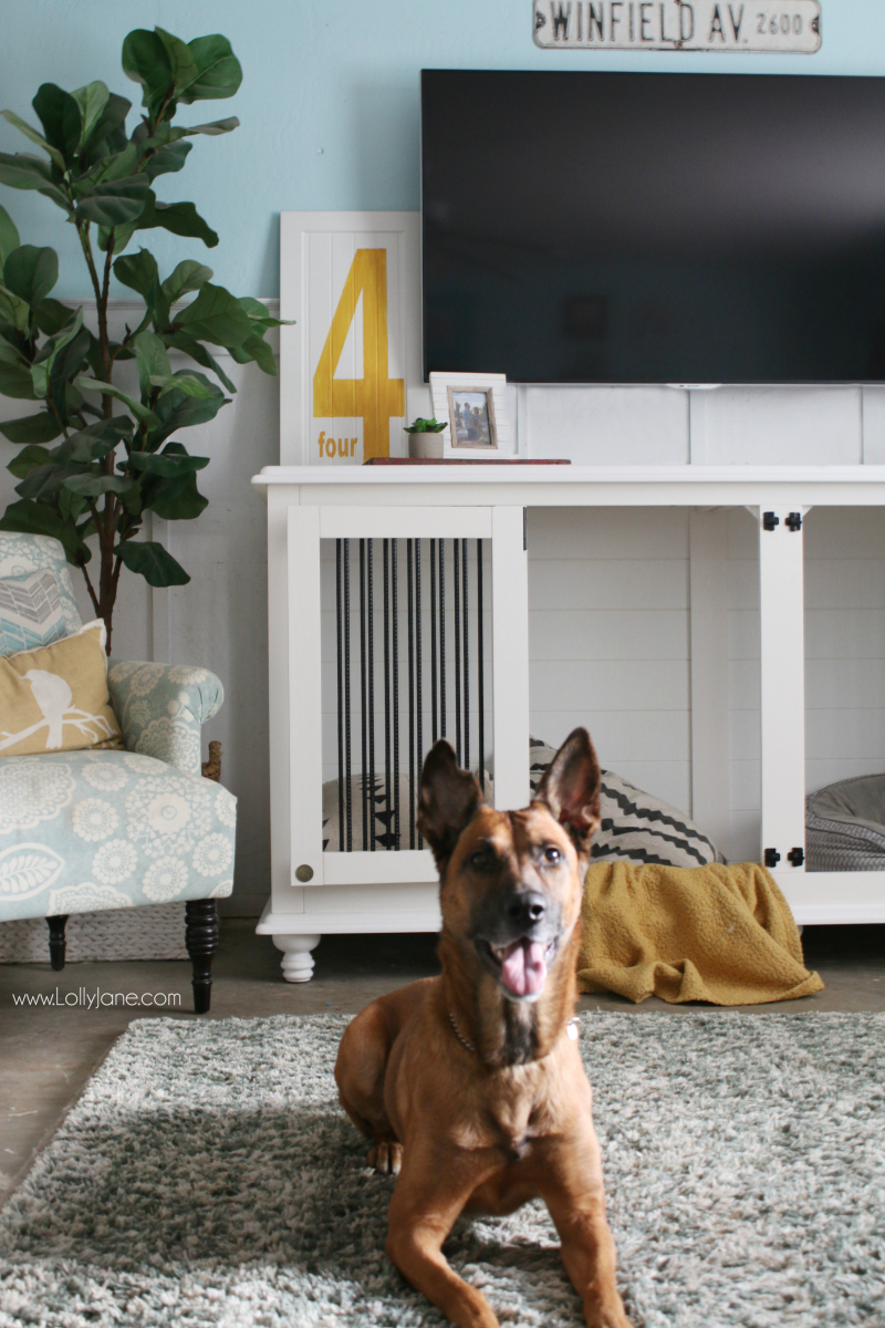 This doggie den furniture is the perfect dog kennel! It looks like furniture and is cozy for your favorite furry friend!