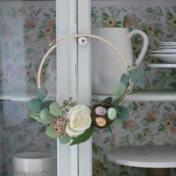 Easy Spring Embroidery Hoop Wreath