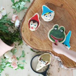 easy decorated gnome sugar cookies