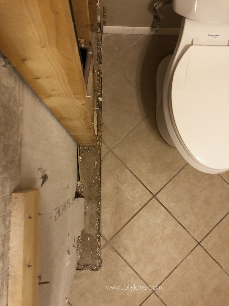 Small bathroom remodel ideas on a budget! We're renovating a bathroom on a budget and are gutting it down to the studs!