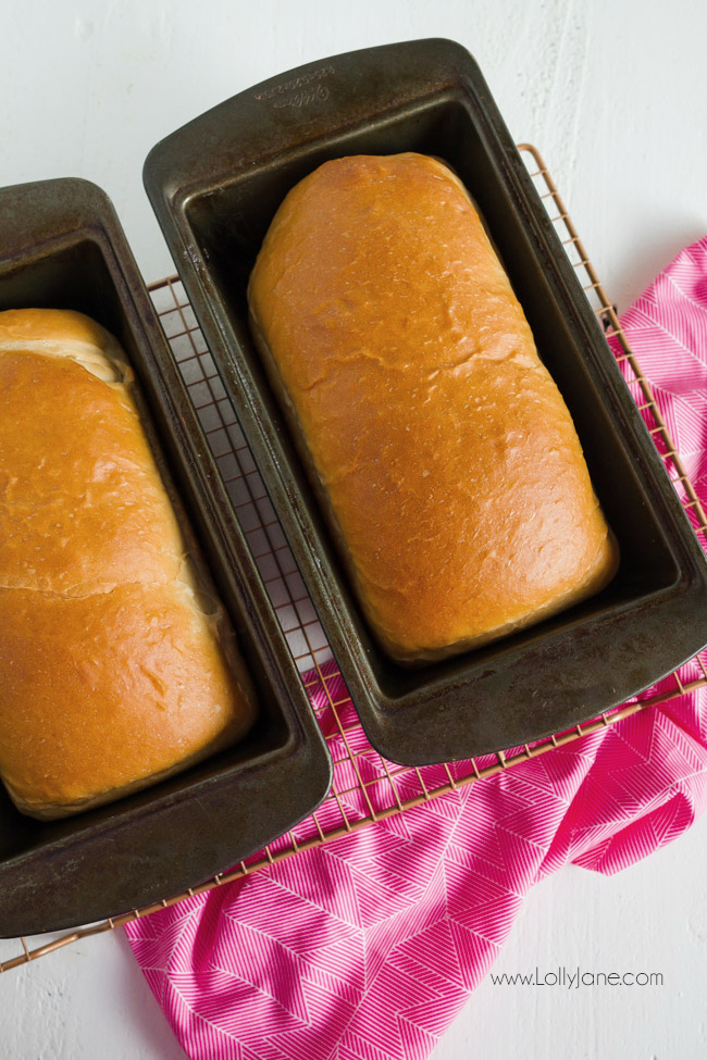 Simple homemade bread recipe | Love this easy to make white bread recipe, such a yummy homemade bread recipe, our family favorite bread!