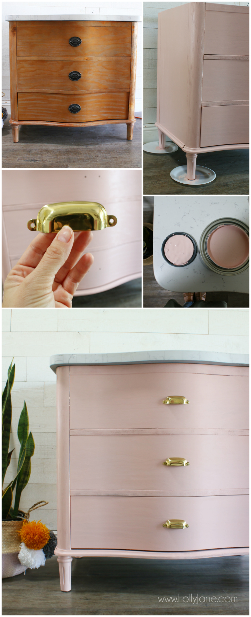 diy pink bathroom vanity