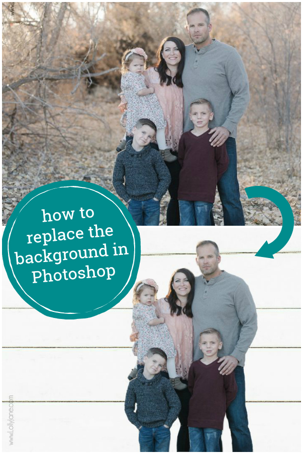 How to replace the background in Photoshop Elements. Easy to follow photoshop tip to replace the background in a family picture. #photoshoptip #phototip #editingtip #ad @adobe