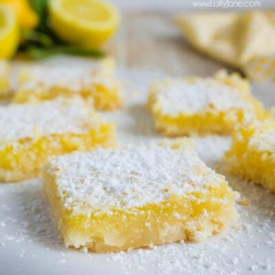Easy to Make Lemon Bar Recipe