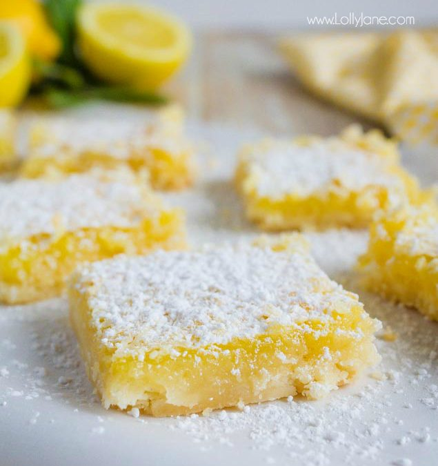 Easy to Make Lemon Bar Recipe