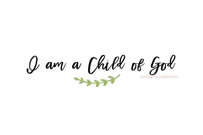 I am a Child of God. Cute keepsake to add to this EASY to make baptism baptism booklet!