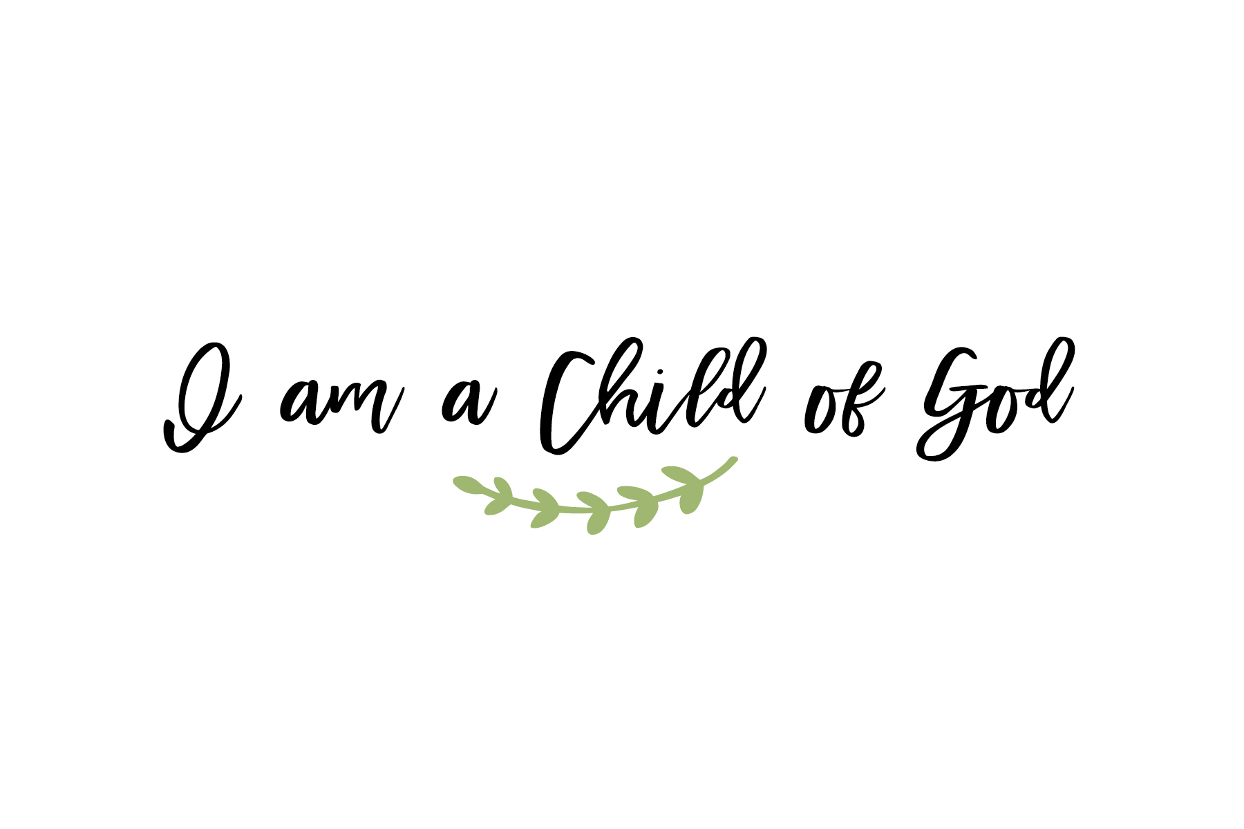 photograph about I Am a Child of God Printable named printable baptism picture ebook - Lolly Jane