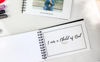 printable baptism photo book