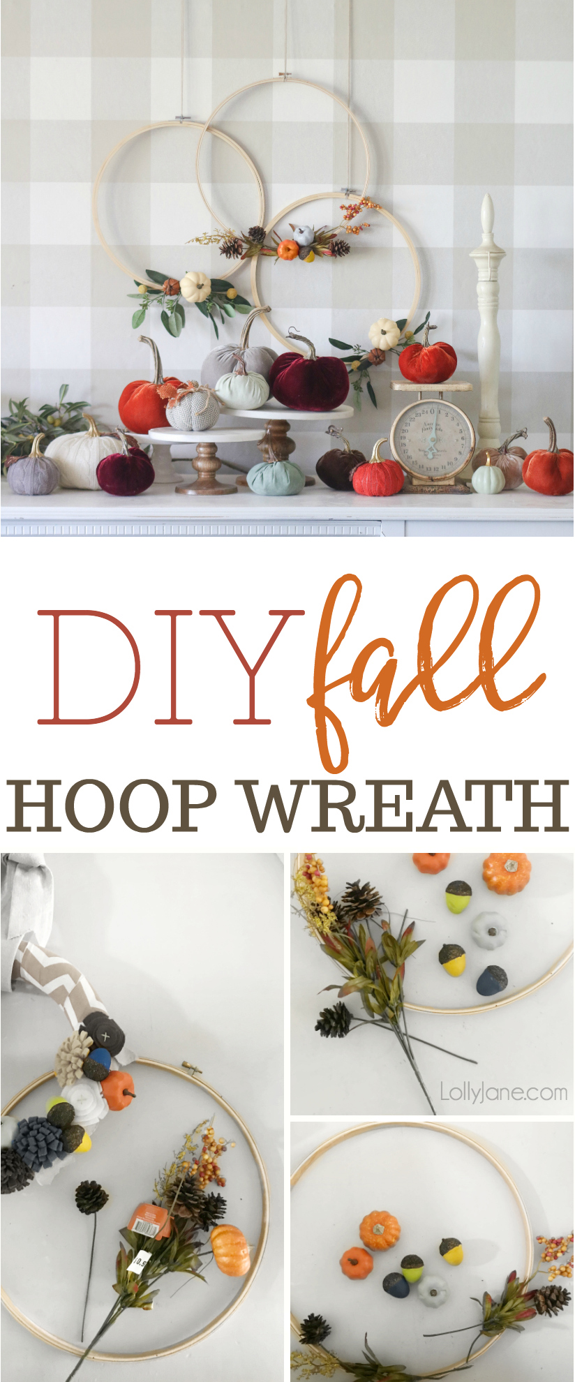 Fall Embroidery Hoop Wreath Lolly Jane