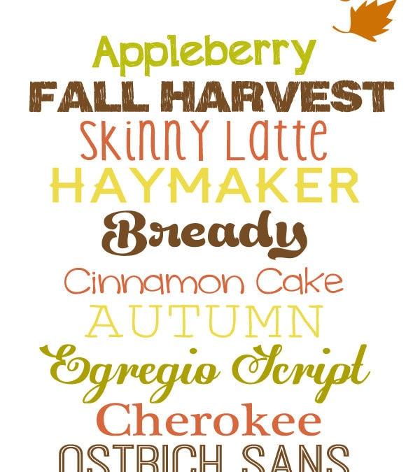 free fall fonts