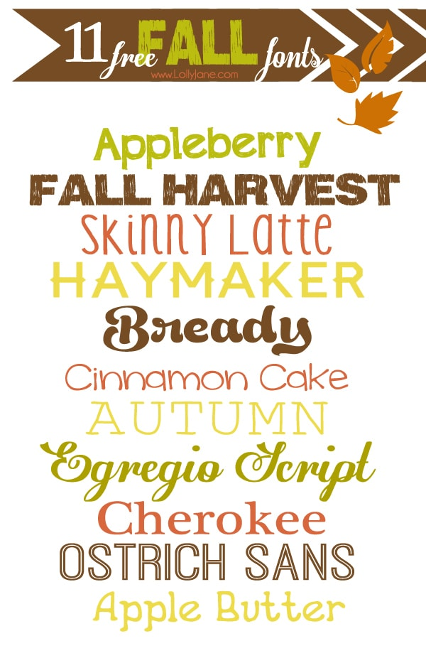 Grab your favorite cozy sweater and a cup of pumpkin spice hot cocoa then enjoy this collection of free fall fonts. Loving these 11 free fall fonts. #fallfonts #fallfont #fontcollection