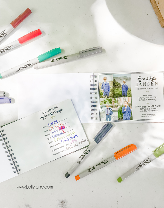 Printable pages for your child's LDS Baptism Booklet that can double as a sign-in memory booklet! EASY to make and under $7!